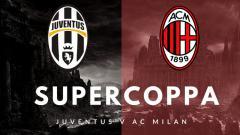 Indosport - Logo Juventus vs AC Milan.