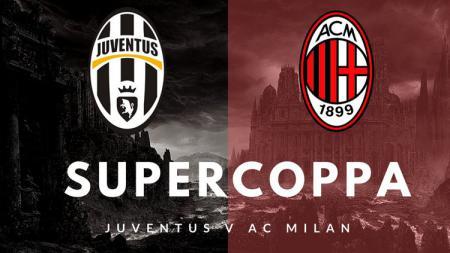 Logo Juventus vs AC Milan. - INDOSPORT
