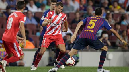 Christian Stuani, striker Girona saat melawan Barcelona. - INDOSPORT