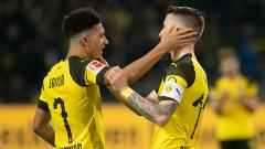Indosport - 2 Bintang Borussia Dortmund, Jadon Sancho (kiri) dan Marco Reus.