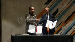 Indosport - PT LIB dan La Liga saat mengumumkan kerja sama, Rabu (16/01/19).