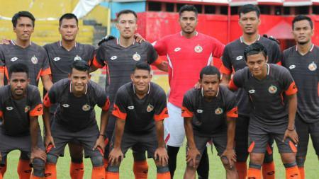 Skuat Semen Padang FC saat menjalani pra musim jelang Liga 1 2019. - INDOSPORT