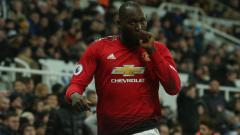 Indosport - Selebrasi Pemain Manchester United, Romelu Lukaku
