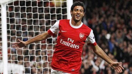 Carlos Vela ketika masih membela Arsenal, baru saja meraih penghargaan Most Valuable Player MLS. - INDOSPORT