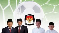 Indosport - Debat Capres dan Cawapres sepak bola