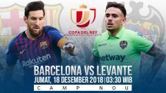 Indosport - Prediksi pertandingan Barcelona vs Levante.