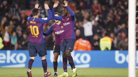 Ousmane Dembele dianggap tidak memiliki sikap yang baik sehingga membuat pihak Barcelona muak terhadapnya. - INDOSPORT