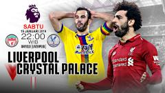 Indosport - Link live Streaming Liga Primer Inggris Liverpool vs Crystal Palace.