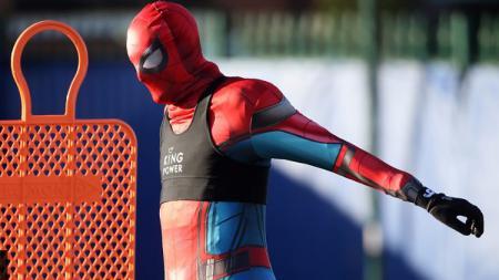 Jamie Vardy jalani latihan dengan mengenakan kostum Spider-Man - INDOSPORT