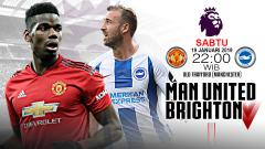 Indosport - Pertandingan Manchester United vs Brighton