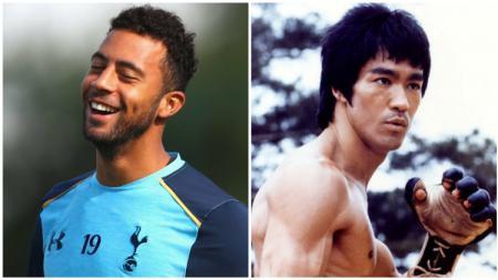 Mousa Dembele mengaku sebagai penggemar Bruce Lee. - INDOSPORT