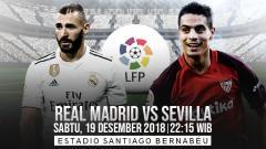Indosport - Prediksi pertandingan Real Madrid vs Sevilla