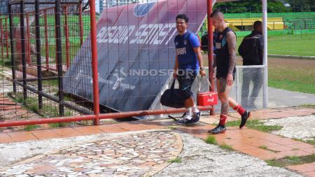 Pemain PSM Makassar, Aaron Evans. - INDOSPORT