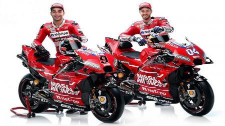 Andrea Dovizioso serta Danilo Petrucci pembalap andalan Ducati. - INDOSPORT