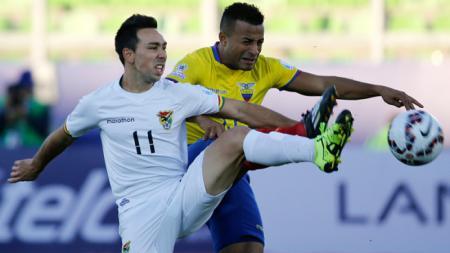 Damian Lizio (nomor punggung 11) saat membela Timnas Bolivia. - INDOSPORT