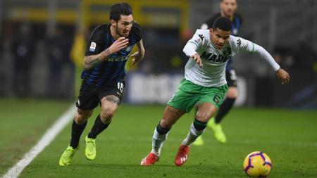Sassuolo bisa saja melanjutkan tren positif mereka ketika menjamu Inter Milan pada pertandingan sepak bola Serie A Liga Italia 2019-2020, Minggu (20/10/19). - INDOSPORT