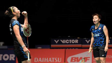Greysia dan Apriyani punya semangat lebih usai kalahkan Matsutomo/Takahashi kemarin di semifinal. - INDOSPORT