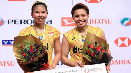 Greysia Polii/Apriyani Rahayu finis di posisi runner-up Malaysia Masters 2019 setelah kalah dari wakil Jepang Yuki Fukushima/Sayaka - INDOSPORT