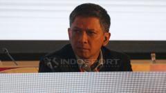 Indosport - Iwan Budianto dalam kongres PSSI 2019.
