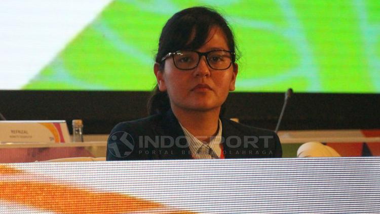 Ratu Tisha dalam Congress PSSI 2019 Copyright: Fitra Herdian/Indosport