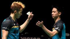 Indosport - Marcus Fernaldi Gideon/Kevin Sanjaya Sukamuljo keluar sebagai juara Malaysia Masters 2019
