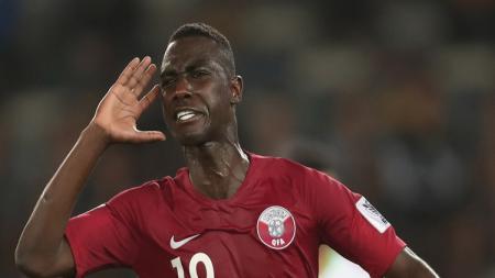 Striker Timnas Qatar, Almoez Ali. - INDOSPORT