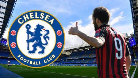 Higuain dikabarkan akan hengkang ke Chelsea - INDOSPORT