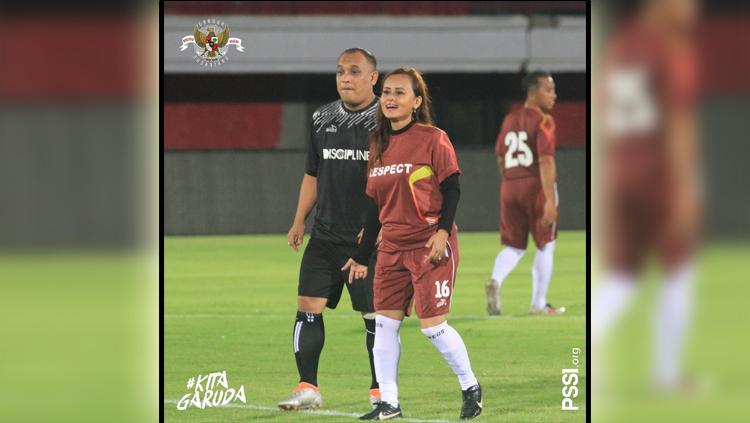 PSSI menggelar bermain sepak bola bersama Asprov dan perwakilan klub Liga 1 hingga Liga 3 di penghujung rangkaian acara Kongres PSSI 2019 di Bali Copyright: Twitter/@PSSI