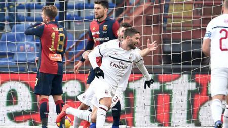 Genoa vs AC Milan. - INDOSPORT