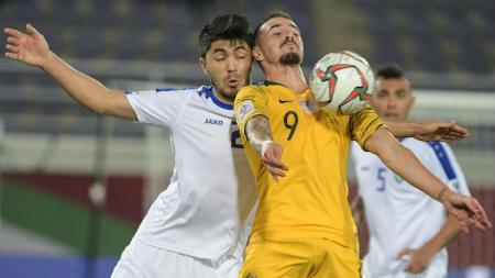 Australia vs Uzbekistan. - INDOSPORT