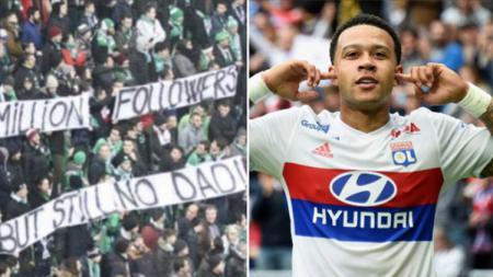 Depay mendapatkan ejekan karena menjadi anak yatim dari fans rival - INDOSPORT