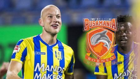 Bek anyar Borneo FC asal Belanda, Jan Lammers. - INDOSPORT