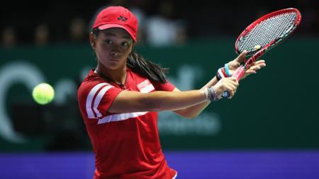 Kabar baik datang dari Priska Madelyn Nugroho yang rankingnya sukses melonjak pesat setelah mencapai perempatfinal AS Terbuka 2019. - INDOSPORT