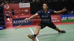 Indosport - Pebulu tangkis tunggal putra Indonesia, Jonatan Christie, melaju ke babak kedua Indonesia Masters 2019 setelah hanya bermain satu gim.