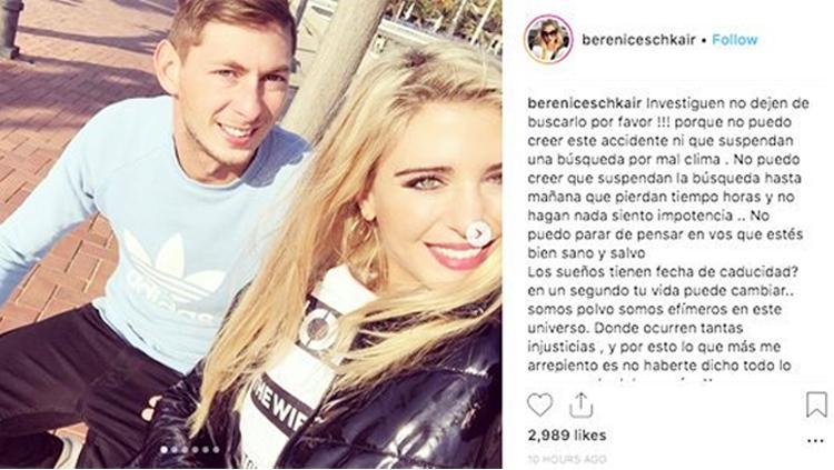 Mantan pacar Emiliano Sala Copyright: Instagram/bereniceschkair