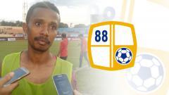 Indosport - Prisca Womsiwor dan logo Barito Putera
