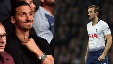 Striker LA Galaxy, Zlatan Ibrahimovic dan Harry Kane, striker Tottenham Hotspur. - INDOSPORT