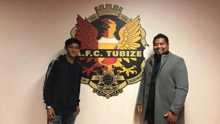 Firza Andika telah menandatangani kontrak profesional dengan A.F.C. Tubize. - INDOSPORT