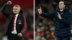 Indosport - Pelatih Manchester United, Ole Gunnar Solskjaer dan Unai Emery, pelaih Arsenal.