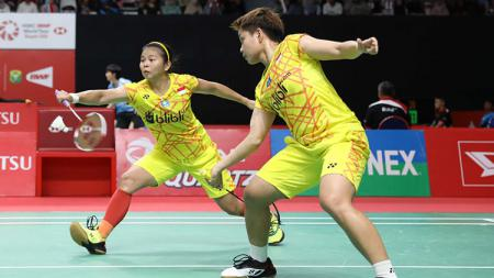 Ganda putri terbaik Indonesia, Greysia Polii/Apriyani Rahayu, melangkah ke babak kedua Chinese Taipei Open 2019. - INDOSPORT