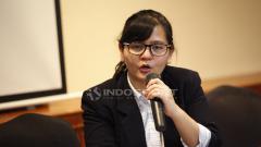 Indosport - Ratu Tisha Destria, mengundurkan diri sebagai sekjend PSSI.