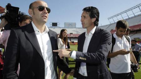 Monchi dan Unai Emery saat masih bergabung di Sevilla - INDOSPORT