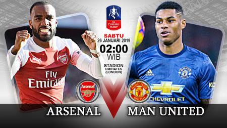 Pertandingan Arsenal vs Manchester United. - INDOSPORT