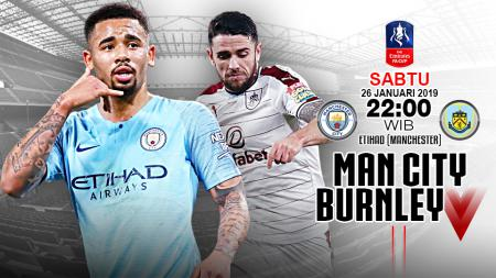 Pertandingan Manchester City vs Burnley. - INDOSPORT