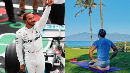 Lewis Hamilton bersiap menyambut musim baru Formula 1. - INDOSPORT