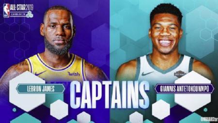 LeBron James dan Giannis Antetokounmpo jadi kapten di NBA All-Star 2019 - INDOSPORT