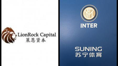 Ilustrasi logo perusahaan Tiongkok LionRock Capital dan klub Serie A Italia Inter Milan. - INDOSPORT