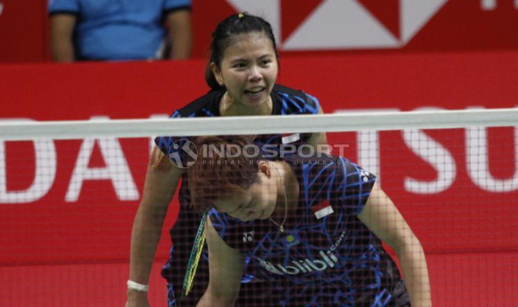 Ganda putri Indonesia, Greysia Polii/Apriyani Rahayu baru saja merampungkan babak semifinal Indonesia Masters 2019 pada Sabtu (26/1/2019). Copyright: Herry Ibrahim/INDOSPORT