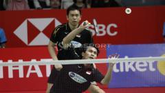 Indosport - Hendra Setiawan/Mohammad Ahsan melaju ke final Indonesia Masters 2019