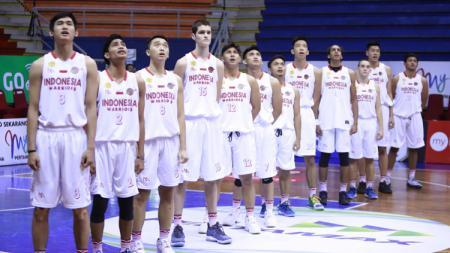 Skuad Tim Indonesia Warrios pada seri kelima IBL Pertamax 2018-2019. - INDOSPORT